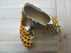 Colorful espadrilles with african fabric by lacobayacalva on Etsy