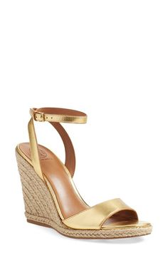 Tory Burch Tory Burch Wedge Sandal (Women) available at #Nordstrom