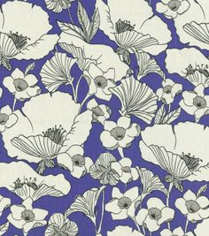 Home Decor Print Fabric-HGTV HOME Poppy Power Periwinkle, , hi-res