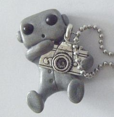 SO CUTE!!  Robot with a Camera Necklace by sleepyrobot13 on Etsy, $10.00