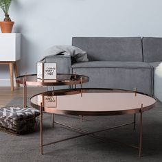 Cupid Copper Living Room Side Table by Cuckooland, the perfect gift for Explore more unique gifts in our curated marketplace. Décoration Rose Gold, Rose Gold Decor, Rose Gold Interior, Or Rose, Copper Living Room, Home Living Room, Decoration Inspiration, Room Inspiration, Chalet Design