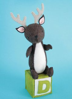 Deer is a gentle little soul. He always sees the best in people (and deers). Completely hand sewn, Deer is a great portable sewing project suitable...