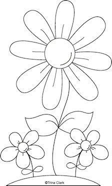 Peaceful Petals 7 Country Line Art Pattern