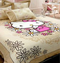 Hello Kitty bedding. Now i would totally rock this! :D
