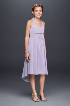 4dd86dc2 This chic and youthful chiffon dress is the perfect choice for your junior  bridesmaid! Tie
