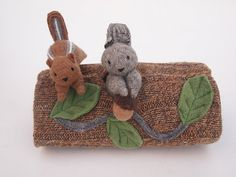 Hollow Log Animal Home, waldorf toy, all natural toy, eco friendly toy