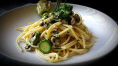 Spaghetti vongole, zucchine e menta