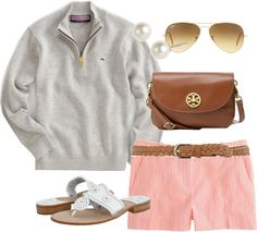 """""""Seersucker in Chilly Weather"""" by classically-preppy ❤ liked on Polyvore"""