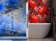 A harmonikus otthon létrehozásakor érdemes odafigyelnünk a növények, virágok meglétére. 🌿🌷 Gondolhatunk itt élő növényekre is, de akár a tapétán, szőnyegen, vagy képeken megjelenő levelek, virágok ábrázolására is. Egy letisztultabb térbe kellemes színfolt lehet egy színes virágot ábrázoló párna, vagy az asztalon helyet kapó színes virágcsokor. Nem mellesleg pedig idén rendkívül nagy népszerűség övezi a természet ihlette kiegészítőket.🙂 Curtains, Shower, Bathroom, Prints, Painting, Art, Rain Shower Heads, Washroom, Art Background