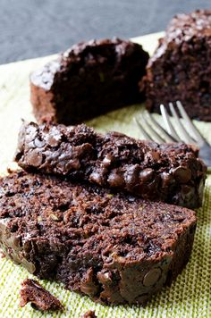 This Chocolate and Yogurt Zucchini Bread is so moist and rich that you will feel like you are eating brownies, yet a healthier version.Little olive oil, plain yogurt and lots of zucchini are the secret behind the moistness.CUT sugar in 1/2