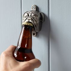 Wall-Mounted Bulldog Bottle Opener