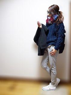 SLYのニット/セーターを使ったnyaobuさんのコーディネートです。│メリークリスマス( •ө• )♫昨日...