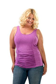 Fashion Bug Women's Plus Size Tummy Tank Top www.fashionbug.us #PlusSize #FashionBug #Top