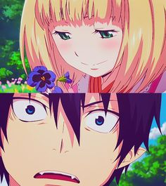 They woul be one of the cutest couple ever! :3 (Blue Exorcist)