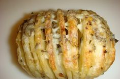 Sliced Baked Potatoes with Herbs and Cheese | Inspired Dreamer