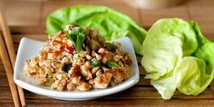 Ground turkey with lots of chopped fresh veggies makes a light and delicious filling for these lettuce cups. They taste great hot or cold. Get the recipe.