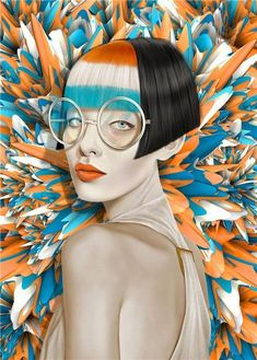 Art And Illustration, Illustration Fashion, Pop Art, Images D'art, Cheap Paintings, Digital Paintings, Ouvrages D'art, Chalk Drawings, Wall Art Pictures