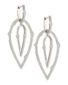 Stephen Webster 18K Large 3D Hoop Earrings with Diamonds