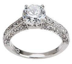epiphany diamonique 225 ct tw solitaire ring - Diamonique Wedding Rings
