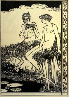 Poems by Percy Bysshe Shelley illus. by Robert Anning Bell (1902) Satyr and Nymph