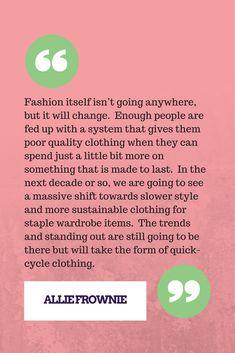 Fast fashion isn't going anywhere. Vegan Fashion, Fast Fashion, Ethical Fashion, Slow Fashion, American Made Clothing, Clothing Swap, Green Living Tips, Hemp Fabric, Fair Trade Fashion