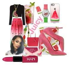 """Watermelon Flavor"" by jsable456 on Polyvore featuring Casetify, Dee Keller, Sharon Khazzam, Disney, NYX, Topshop and Kate Spade"