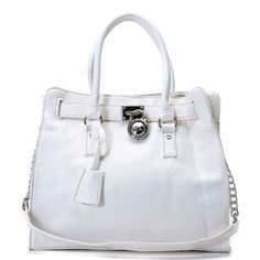 Michael Kors Saffiano Leather Large White Totes Outlet