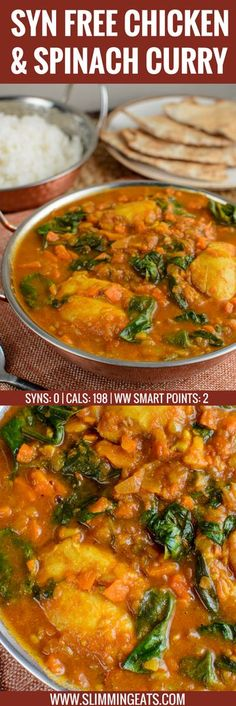Extra Off Coupon So Cheap Fancy Curry? Serve this delicious Chicken and Spinach Curry for dinner tonight. The whole family will enjoy this. Gluten Free Dairy Free Paleo Slimming World and Weight Watchers friendly Slimming World Curry, Slimming World Dinners, Slimming World Chicken Recipes, Slimming World Recipes Syn Free, Slimming Eats, Chicken Spinach Curry, Indian Food Recipes, Healthy Recipes, Free Recipes