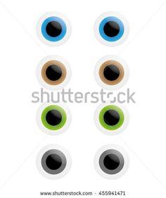 Smooth Vector Eyes, Blue, Brown, Green, Grey