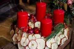 Adventkranz Apfel