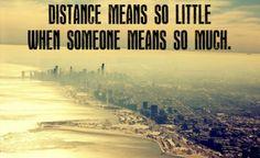 The distance between us...