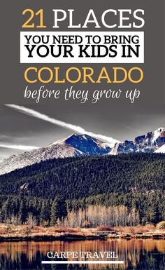 Outdoor Travel usa Places to Take Kids in Colorado (before they grow up): Rocky Mountain National Park is just one of them. Click over for a complete list! What to do in Colorado with kids Road Trip To Colorado, Visit Colorado, Colorado Hiking, Estes Park Colorado, Colorado Summer Vacations, Colorado In The Summer, Denver Colorado Vacation, Colorado Springs Things To Do, Sand Dunes Colorado