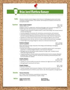 curriculum vitae and resume design ideas... so cool!