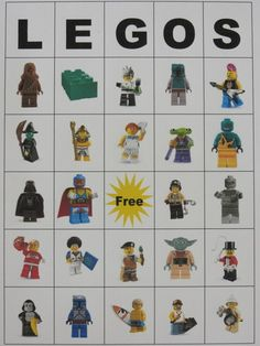 #LegoDuploParty  Lego Bingo Game.  In case it rains the day of our Lego Duplo House Party