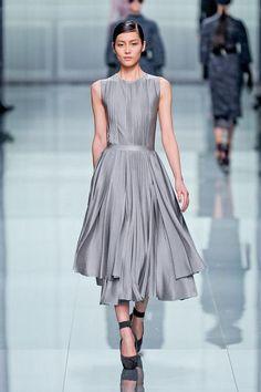 Christian Dior Paris Fashion Week Fall 2012// I love the uneven hemline, it's inspiring. Are those pintucks?