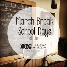 Thinking ahead to March Break plans? Go back to school, Victorian Style! From March 13-17, see what a one-room schoolhouse was like at the turn of the 20th century, dress up like a Victorian child, learn to write on slates, but don't get sent to the corner! Tours and activities are drop in from 9am-3pm.  #oshawa #oshawamuseum #OurOshawa #MarchBreak #Museumlife #Victorian #schooldays #oldschool