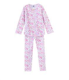 Pyjama fille en coton imprimé fleuri €19,60