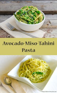 Avocado-Miso-Tahini Pasta it's magically delicious. Pin to save for later