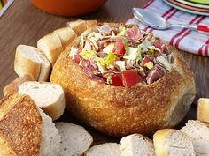 Hoagie Dip. Great for Appetizers or Small Sandwiches for Game Day!