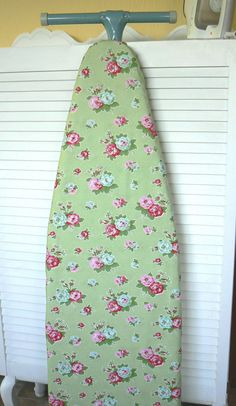 Ironing Board Cover Green Shabby Roses