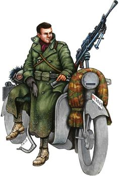 6° reggimento Bersaglieri, motociclista Russia 1942 - pin by Paolo Marzioli