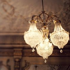 3 chandeliers in one