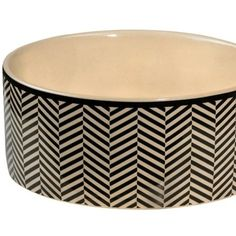Herringbone Stoneware Bowser Bowls