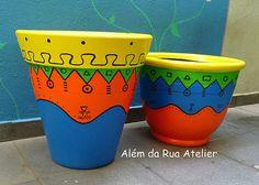 Idea Of Making Plant Pots At Home // Flower Pots From Cement Marbles // Home Decoration Ideas – Top Soop Ceramic Pots, Terracotta Pots, Clay Pots, Painted Plant Pots, Painted Flower Pots, Mosaic Flower Pots, Ceramic Flowers, Vase Centerpieces, Vases Decor