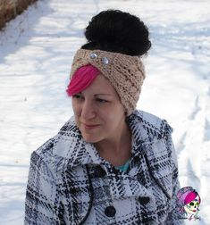 Braided Glam Cable Earwarmer by Glamour4You. FREE pattern!! Happy 2016!!