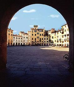 Lucca, Italy, this little town was so cute and was one of the strongest little towns in the old day with amazing churches!