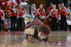 The Highlander is always the star of Radford University's half-time shows. Learn more about RU: www.radford.edu