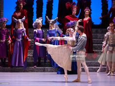 ST PETERSBURG, RUSSIA. Principal dancers of The Royal Ballet (United Kingdom) - US dancer Sarah Lamb and Canadian dancer Matthew Golding (L-R front) - in a scene from the Perm Tchaikovsky Opera and Ballet Theatre's production of the ballet Romeo and Juliette at St Petersburg's the Alexandrinsky Theatre. The event is part of the 2016 Dance Open International Ballet Festival. Ruslan Shamukov/TASS