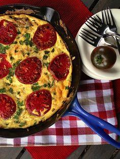 Easy breakfast or brunch entertaining with Mushroom & Tomato Frittata | Reluctant Entertainer.com