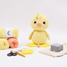 Ravelry: Alfred the Duck with Music Box pattern by Hobbii Design Box Patterns, Easy Crochet Patterns, Crochet Patterns Amigurumi, Amigurumi Doll, Crochet Toys, Crochet Baby, Crochet Birds, Crochet Animals, Hobbies And Crafts